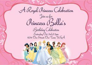 Princess Party Invitation Template 40th Birthday Ideas Disney Princess Birthday Party