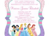 Princess Party Invitation Template Disney Princesses Birthday Invitations Disney Princess