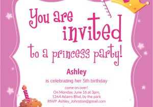 Princess Party Invitation Template Princess Magic Birthday Invitation Template Free
