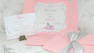 Princess themed Quinceanera Invitations Glass Slipper Princess Quinceanera or Sweet 16 Invitations