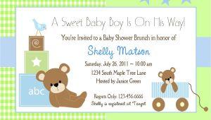 Printable Baby Boy Shower Invitations Baby Shower Invitation Wording Lifestyle9