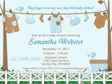 Printable Baby Boy Shower Invitations Baby Shower Invitations for Boy Baby Clothes Blue and Brown