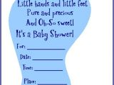 Printable Baby Boy Shower Invitations Free & Adorable Baby Shower Footprint Invitation