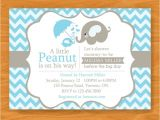 Printable Baby Shower Invitations Elephant theme Printable Baby Shower Invitation A Little Peanut is