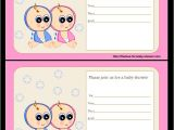 Printable Baby Shower Invitations Twins Free Printable Twin Baby Shower Invitations