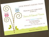 Printable Baby Shower Invitations Twins Owl Twins Baby Shower Invitations You Print