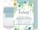 Printable Baby Shower Invitations Twins Printable Twin Baby Shower Invitation Twin Girl Baby