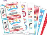 Printable Birthday Invitation Kits Circus Party Invitation Decorations Kit Printable