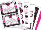 Printable Birthday Invitation Kits Glamour Girl Party Invitation Decorations Kit Printable
