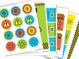 Printable Birthday Invitation Kits Science Party Invitation Decorations Kit Printable Mad