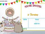 Printable Birthday Party Invitation Templates Free Printable Pusheen Birthday Invitation Template Free