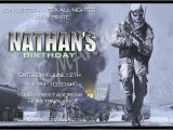 Printable Call Of Duty Birthday Invitations Personalized Invitations