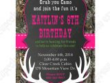 Printable Camo Birthday Invitations Camo Girl Printable Invitation Hunting Realtree Diy