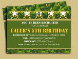 Printable Camo Birthday Invitations Camouflage Birthday Invitation Printable or Printed with Free