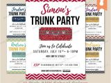 Printable College Trunk Party Invitations Printable Graduation Trunk Party Celebration Invitation