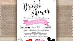 Printable Disney Bridal Shower Invitations Disney Bridal Shower Invitation Printable Disney Engagement