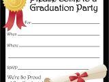 Printable Graduation Invitations 2018 Free Printable Graduation Party Invitations High School