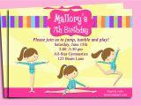 Printable Gymnastics Birthday Invitations Gymnastics Invitation Printable or Printed with Free Shipping