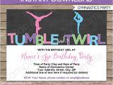 Printable Gymnastics Birthday Invitations Gymnastics Party Invitations Birthday Party