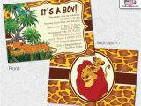 Printable Lion King Baby Shower Invitations Lion King Baby Shower Invitations Lion King Invitation