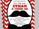 Printable Mustache Birthday Invitations Little Man Mustache Invitation Printable or Printed with Free