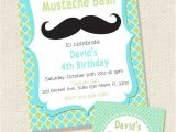 Printable Mustache Birthday Invitations Mustache Sleepover Birthday Bash Printable Party