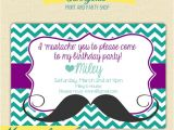 Printable Mustache Birthday Invitations Sunnyside Print & Party S Vendor Listing