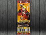 Printable Naruto Birthday Invitations Naruto Birthday Invitation Anime Ninja Personalized