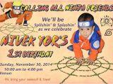 Printable Naruto Birthday Invitations Naruto Birthday Party Invitation Card Photoshop Project