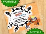 Printable Naruto Birthday Invitations Printable Naruto Uzumaki Invitation Birthday Party by