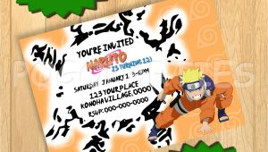 Printable Naruto Birthday Invitations Printable Naruto Uzumaki Invitation Birthday Party by