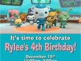 Printable Octonauts Birthday Invitations 12 Printed Octonauts Party Invitations