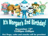 Printable Octonauts Birthday Invitations Custom Octonauts Party Invitations