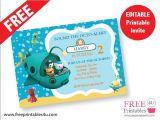 Printable Octonauts Birthday Invitations Free Octonauts Invite Freeprintables4u