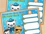 Printable Octonauts Birthday Invitations Free Printable Octonauts Birthday Invitation
