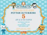 Printable Octonauts Birthday Invitations Octonauts Birthday Digital Printable Invitation and Thank