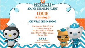 Printable Octonauts Birthday Invitations Octonauts Birthday Invitation Diy Digital by Modpoddesigns