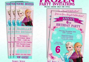 Printable Personalized Frozen Birthday Invitations Disney Frozen Party Invitation and or Party Package Printable