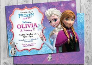 Printable Personalized Frozen Birthday Invitations Frozen Birthday Invitation Printable Frozen Birthday