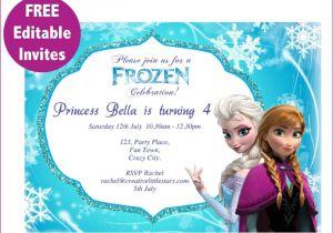 Printable Personalized Frozen Birthday Invitations Frozen Free Printable Invitations Templates Cakes