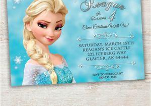 Printable Personalized Frozen Birthday Invitations Frozen Printable Invitation Custom Frozen by