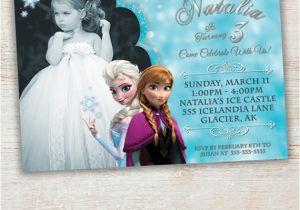 Printable Personalized Frozen Birthday Invitations Items Similar to Frozen Printable Invitation Custom