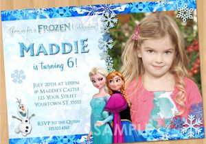 Printable Personalized Frozen Birthday Invitations Printable Frozen Invitation Frozen Birthday Invitation with