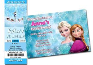 Printable Personalized Frozen Birthday Invitations Richard R On Etsy