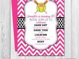 Printable softball Birthday Invitations softball Birthday Party Invitation Pink and Black