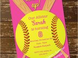 Printable softball Birthday Invitations softball Invitation Birthday Invitation softball Invite