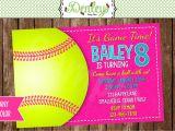 Printable softball Birthday Invitations softball Printable Invitation softball Invite softball Party