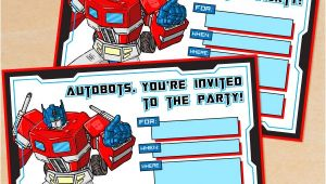 Printable Transformer Birthday Invitations Free Printable G1 Transformers Birthday Invitation