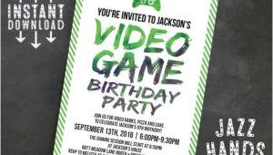 Printable Video Game Birthday Party Invitations Printable Video Game Birthday Invitation Template Diy