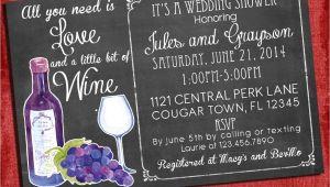 Printable Wine themed Bridal Shower Invitations Printable Wine theme Couples Coed Wedding Shower Invitation I